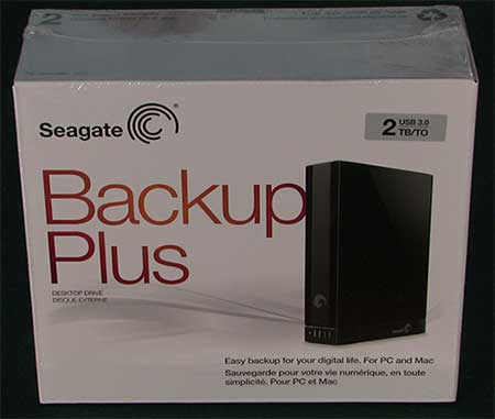 Seagate Backup Plus External Hard Drive In Box