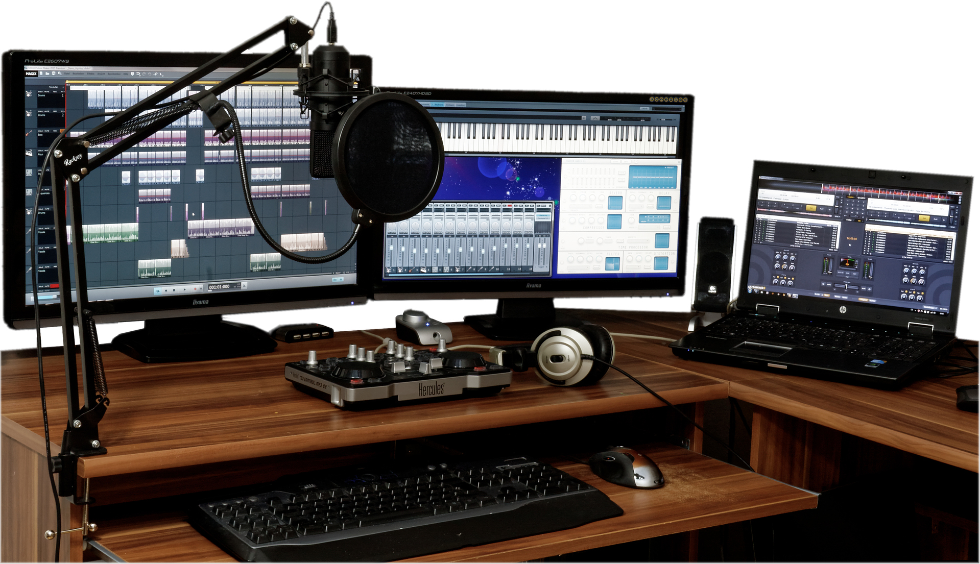 Sound Production Equipment For Videos.